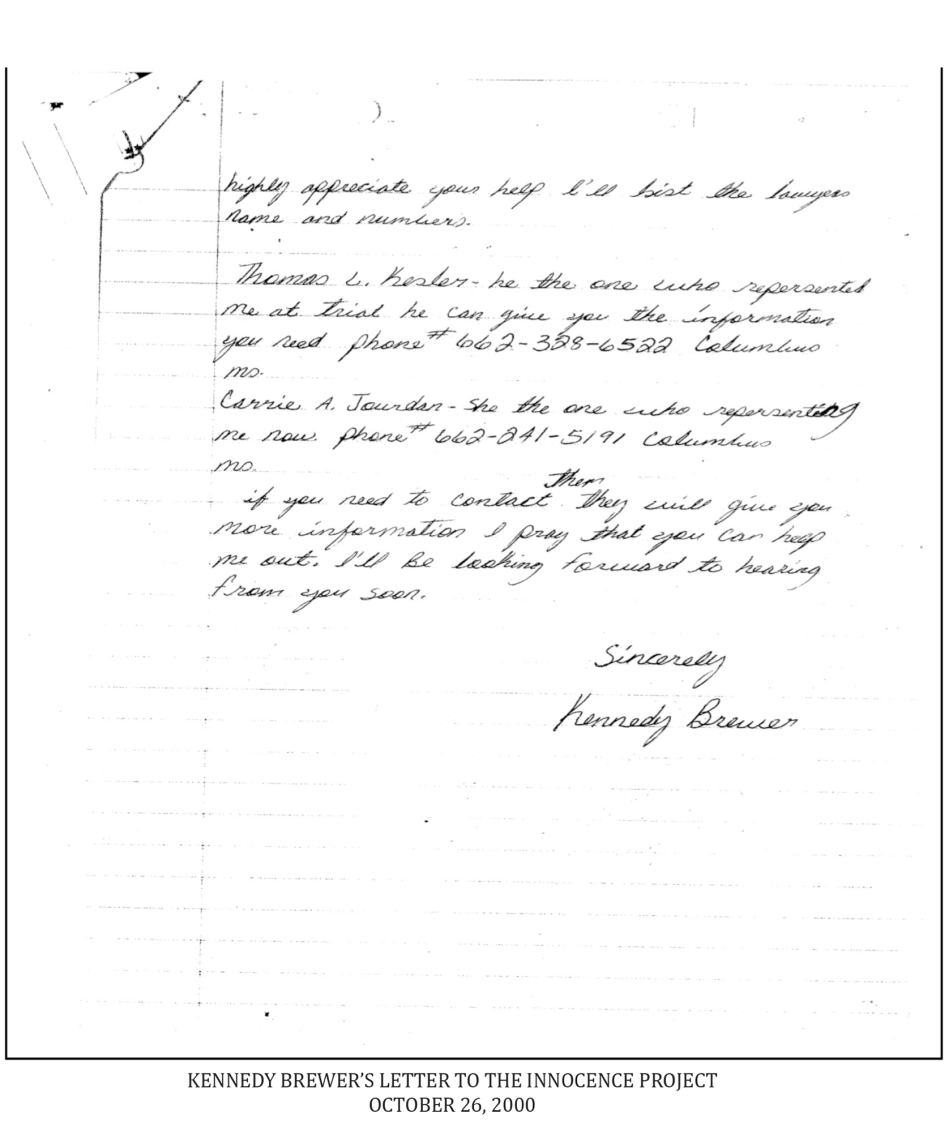 Kennedy Brewer's letter (page 2)